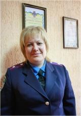 Олена Дорога - начальник кримінальної міліції у справах дітей Ірпінського МВ, майор